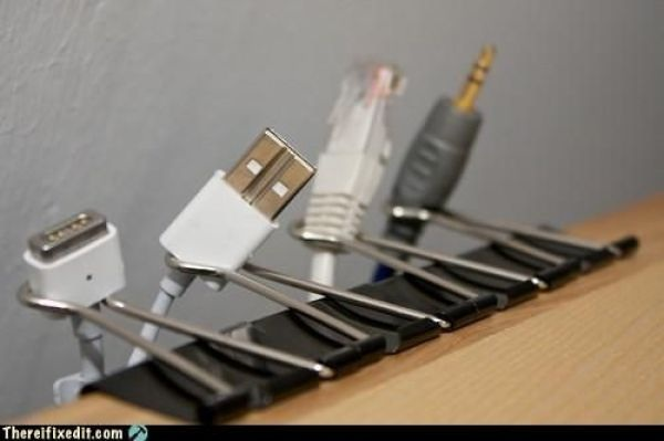 Who needs those fancy plug organizers?